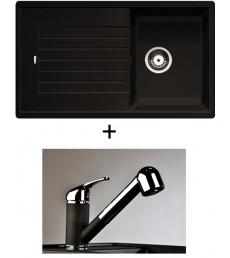 SET - dřez Blanco Zia 45 SL s baterií Altea CR s vytahovací sprchou, dostupný v 8 barvách, přeprava zdarma
