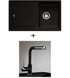 SET - dřez Blanco Zia 45 SL s baterií Alano CR s vytahovací sprchou, dostupný v 8 barvách, přeprava zdarma