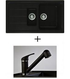 SET - dřez Schock Formhaus D-150 s baterií Altea s vytahovací sprchou, dostupný ve 2 barvách, přeprava zdarma