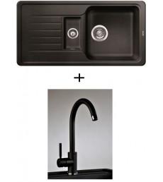 SET - dřez Blanco Favos 6 S s baterií Furio s vytahovací sprchou, dostupný v 6 barvách, přeprava zdarma