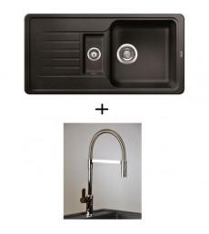 SET - dřez Blanco Favos 6 S s baterií Master s vytahovací sprchou, dostupný v 6 barvách, přeprava zdarma